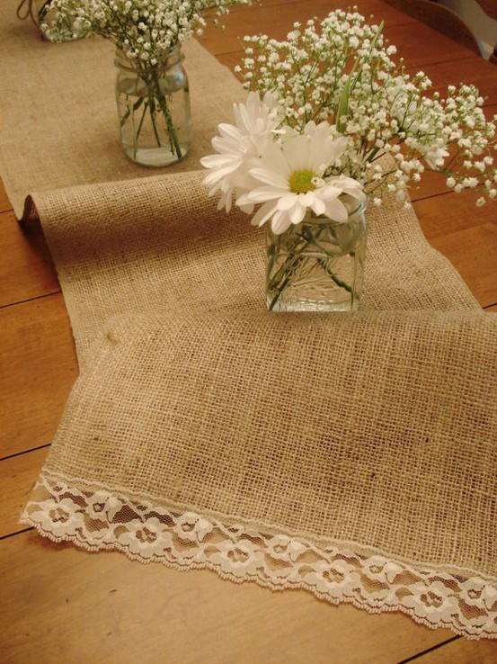 Fall Wedding - Burlap Wedding Table Decoration Ideas #802523 - Weddbook