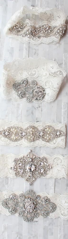 Свадьба - Sexy Vintage Свадебные подвязки ♥ Романтические Ganters Свадебные кружева
