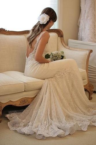 Boda - Chic Diseño especial vestido de novia vestido de novia 2013 ♥ Encaje