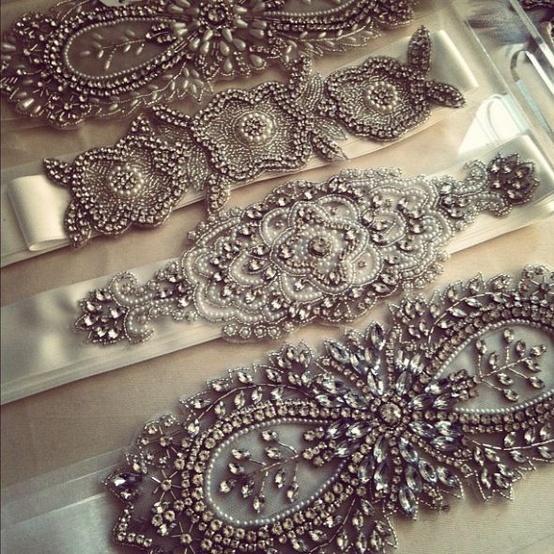 Boda - Accesorios de novia vintage ♥ Gorgeous Sash novia de la boda