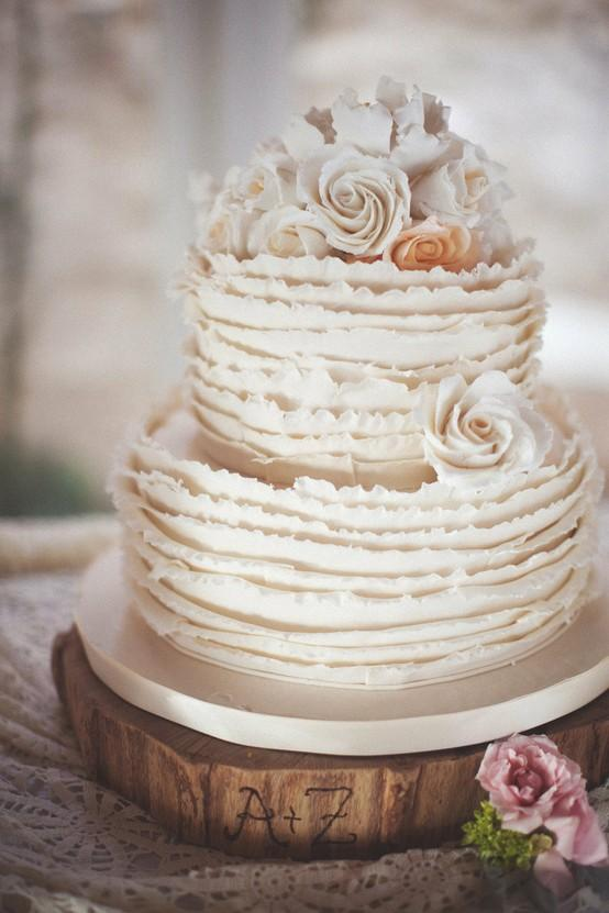 Chic Ruffle Wedding Cakes ♥ Hochzeitstorte Design #805120 ... Ruffled Designs