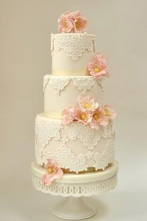 Wedding - Fondant Wedding Cakes ♥ Vintage Wedding Cake