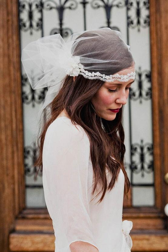 image of Simple Juliet Cap Veil ♥ Farkli Duvak Modelleri