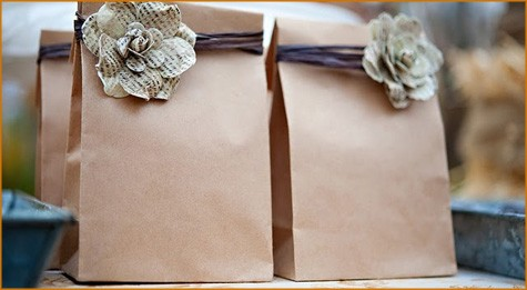 Diy Vintage Wedding Favors Handmade Gift Bag