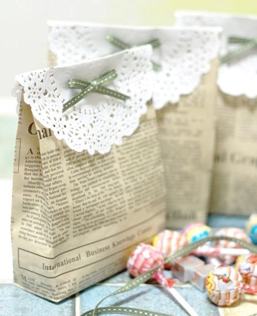 image of DIY Vintage Wedding Favors  ♥ Handmade Vintage Gift Bag
