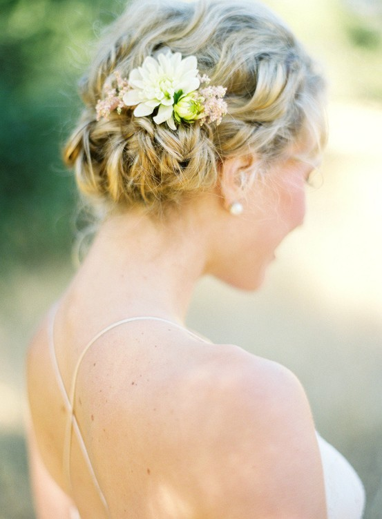 Simple Wedding HairStyles Wedding Braid Updo Hairstyle 891021