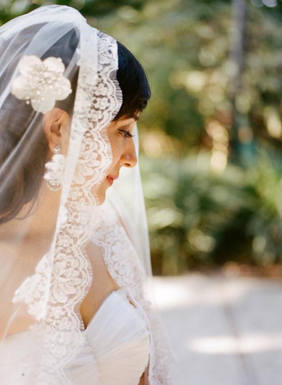 Hochzeit - Vintage Mantilla Veil