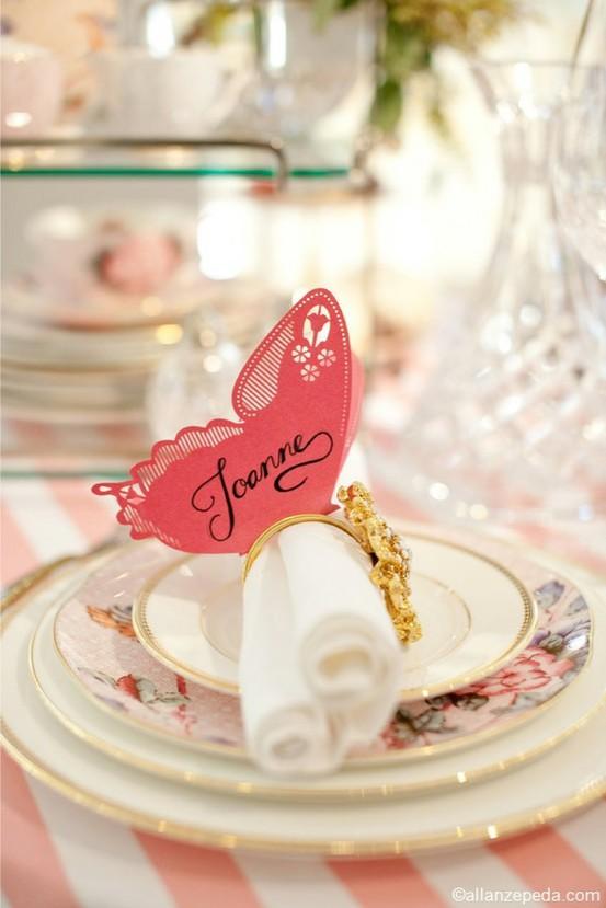 Mariage - Carte de Tableau de mariage de papillon