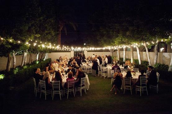 Tendencias para bodas de noche foro organizar una boda for Boda en un jardin de noche