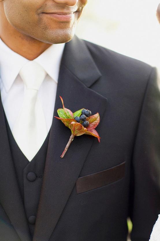Mariage - Tuxedo Groom noir avec veste et cravate blanche