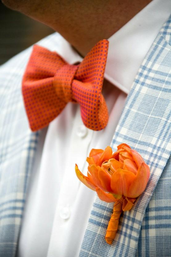 bowtie orange bow tie amp boutonniere 901723 weddbook