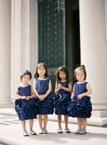 wedding photo - Taffeta Flower Girl Dresses