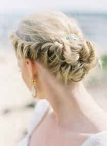 wedding photo - Braided Crown Hochzeit Frisuren für langes Haar