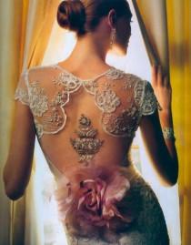 wedding photo - Special Design Designer Wedding Dresses ♥ Cap Sleeves Dream Wedding Dress