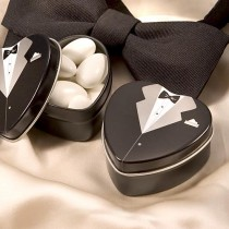wedding photo -  Dressed To The Nines - Tuxedo Mint Tin wedding favors