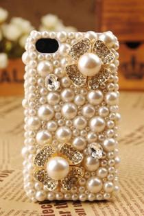 wedding photo - Luxry корпуса телефона ♥ Удивительные iPhone Кристалл и Pearl дело