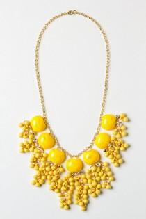 wedding photo -  Lemon Zest Confetti Necklace for Yellow Weddings  Sari Boncuklu Kolye
