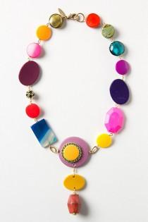 wedding photo -  Malu Mod Necklace - Eye-Pop/Neon Colorful Necklace | Neon Renkli Tasli El Yapimi Kolye