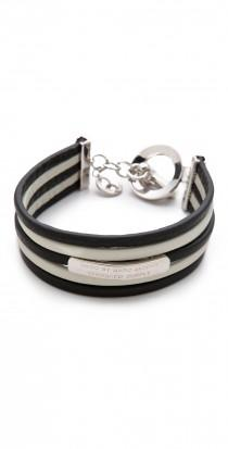 wedding photo -  Multi Leather Toggle Bracel...