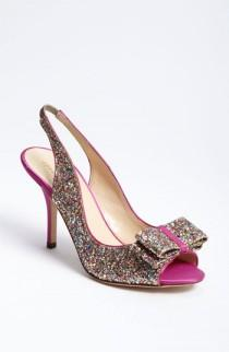 wedding photo - Sparkly chaussures de mariage ♥ pompe en cuir Glitter Finish