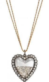 wedding photo -  Luxury Diamond Wedding Necklace ♥ Stunning Diamond Heart Necklace