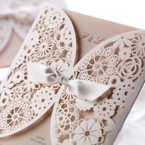 wedding photo - Günstige Lace Wedding Invitation