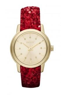 wedding photo -  DKNY Red Sparkle Strap Watch  ♥ Christmas Gift Ideas