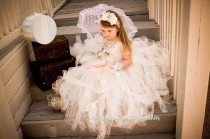 wedding photo - Robes Tutu Flower Girl Birthday Party ♥ ou douche bébé robes de fille de tutu