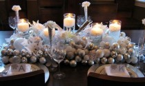 wedding photo - New Year & Christmas Table Decorations ♥ Winter Wedding Table Decors