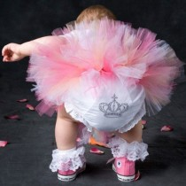 wedding photo - Robe rose de bébé Tutu