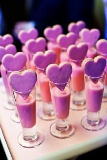 wedding photo - Kreative Pink Wedding Treats ♥ Valentinstag Cookie und Trinken Idea
