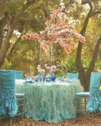 wedding photo - Pink And Turquoise Garden Wedding Decors ♥ Dream Weddings