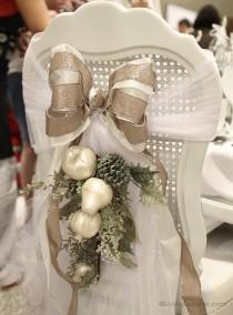 wedding photo - DIY Christmas Wedding Decors ♥ Holiday Wedding Craft Ideas