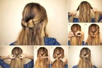 wedding photo - DIY Wedding Hairstyle Tutorial For Long Hair ♥ Simple Wedding Bow Hairstyle