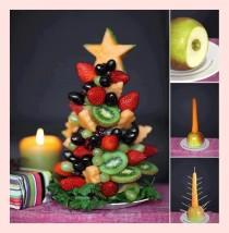wedding photo - Idées créatives alimentaires Vacances ♥ Arbre bricolage Noël aux fruits avec fruits frais