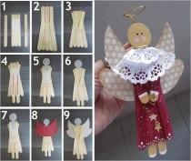 wedding photo - DIY Angel Christmas Ornament Tutorial ♥ Creative Wedding Invitation for Winter Christmas Weddings