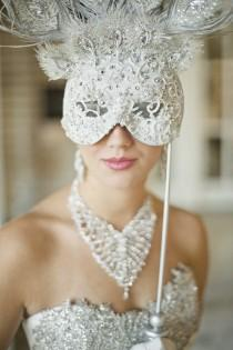 wedding photo - Venetian Wedding Bridal Mask ♥ Unique Wedding Accesorizes
