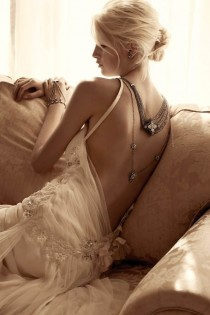 wedding photo - Samantha Wills Bridal and Jewelry Collection ♥ Sexy Lace Deep Low-Cut Back Wedding Dress