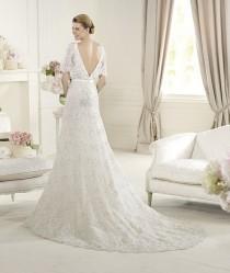 wedding photo - Pronovias Elie Saab Magots 2013 Bridal Collection ♥ Hand-Embroidered Open V Back Wedding Dress