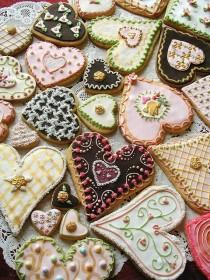 wedding photo -  Valetine\'s Day Heart Sugar Cookies