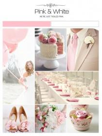 wedding photo - Pink and White Wedding Theme ♥ Pink and White Wedding Inspiration