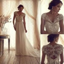 wedding photo - Gorgeous Anna Campbell vintage lace wedding dress