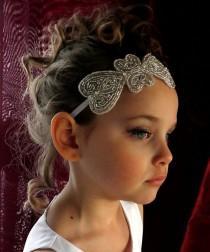 wedding photo - Baby Flower Girl Headband