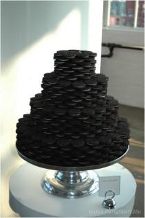 wedding photo - A huge oreo wedding cake with number of layers.