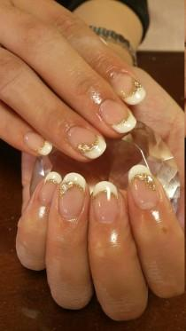 wedding photo - White French Nails