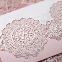 wedding photo - 50 Kits Wedding Invitation Luxury Laser Cut 50 Cards  50 Evps 50 Seals B1008