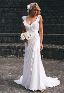 wedding photo - Hot White Ivory Bridal Wedding Gown Ball Dress Beach Wedding Dress Custom Size
