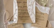 wedding photo - Custom Listing (10) Rustic Wedding Invitation, Eco Friendly Wedding Invitations, Country Style Wedding Invitation