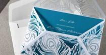 wedding photo - Mystic Forest Laser Cut Wrap I - Wedding Invitation Sample (BH3571)