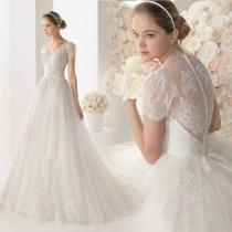 wedding photo - Details About White/ivory Wedding Dress Bridal Gown Custom Size 6-8-10-12-14-16-18 20 22
